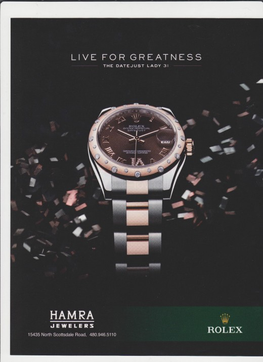 2012 Rolex Watch Ad