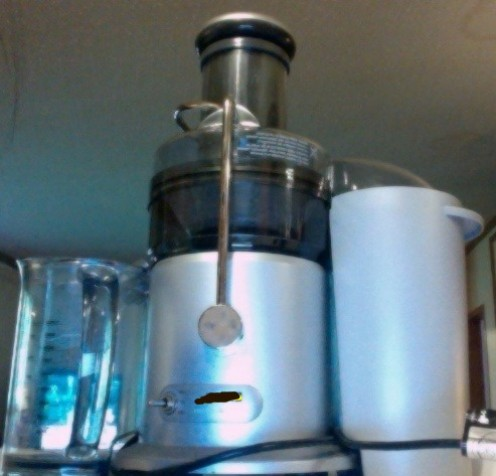 Here's my Breville Juicer.  I've blackened the name out just in case of trademark issues!  It is a Breville Juice Maker though.  We love it!