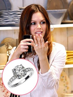 Rachel Bilsons' Round Cut Diamond Ring