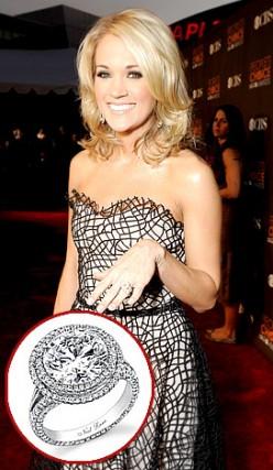Carrie Underwood's Round Cut Diamond Ring