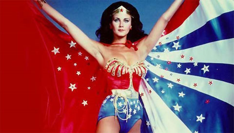 Wonder Woman (Lynda Carter in this pic) is the epitome of female perfection: just the right amount of caring combined with strength and vulnerability.