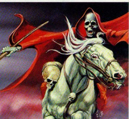 The rider of the Apocalypse on a white horse.