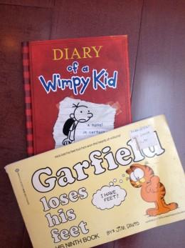 Older children (8-12) enjoy books on humor.  Here is what our older grandchild (and his granddad) enjoy.