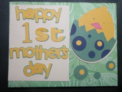 Easy to Make 1st Mother's Day Card