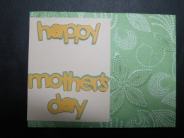 sentiment adhered to small cardstock