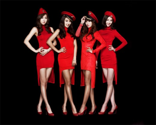 SISTAR red outfits