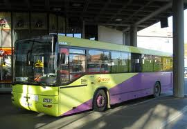 Some buses have a bathroom.  There is usually a break every 2-3 hours, including a 20-30 minute meal break.