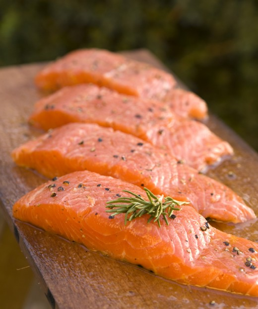 One of my favorite sources of protein - salmon. You can't deny that that look delicious.