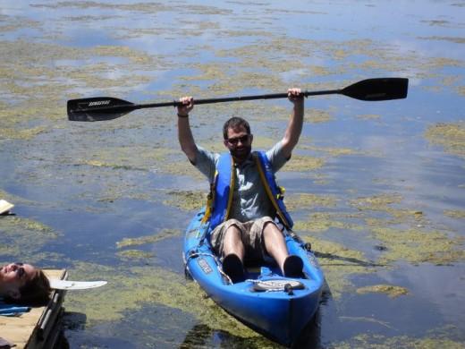 Borrowed Kayak For Low Cost Adventure - Budget adventures