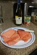 Salmon Recipe: Panko-Breaded Baked Salmon w/Organic Tomatoes