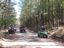 With proper day use permits, there are roads in the Nearby forests where ATVs are allowed, but you must stay on the roads.  Check out the rules when planning your trip!
