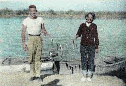 My parents fishing on Lake Havasu