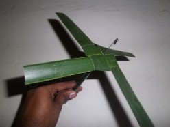 How to make toy weathercock with cocconut leaf.