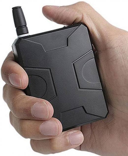 A device like this was used to jam a crowded bus full of people talking on cell phones.