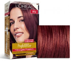 L'Oreal Superior Preference - RP04 RR04 Deep Intense Red Hair Color Review