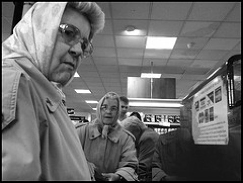 The elderly depend on a quick-thinking cashier to get them in and out in a few minutes. We younger patrons need to show some respect for our seniors in our country.