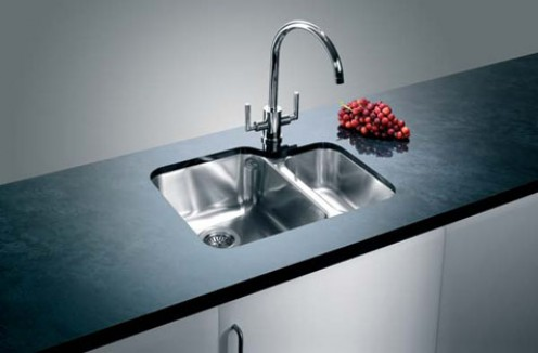 Blanco undermounted sink can be fitted seamlessly into a cut out in granite worktops