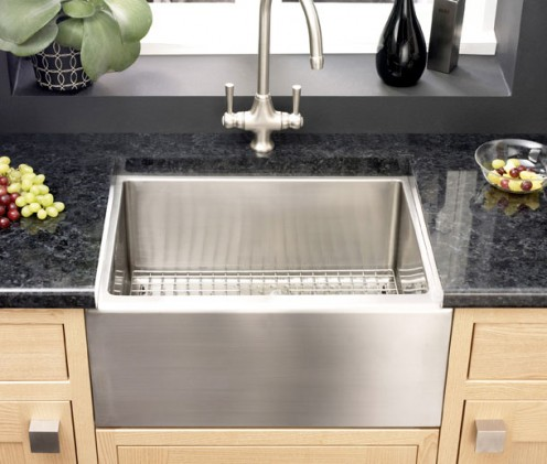 Astracast stainless steel Belfast sink - mixing traditional with ultra modern
