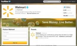 Walmart's Twitter Profile