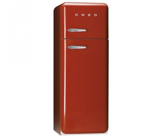 SMEG fridge freezer in red