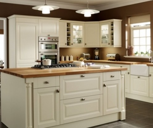 Hatfield is a classically styled cream kitchen with French cut detail