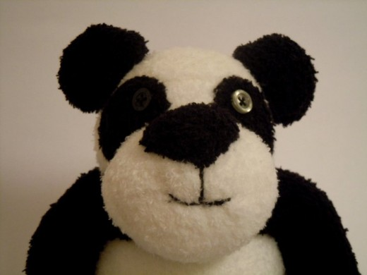 I made this sock panda as requested by my daughter for her boyfriend. Kenneth loves pandas!