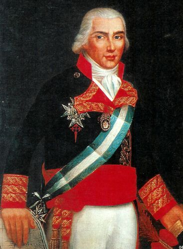 Admiral Federico Gravina, the commander of the Spanish fleet.