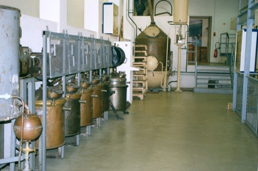 Equipment for making perfume in the International Museum of Perfume