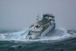 Fighting the waves - bacon butty, anyone? Rolling about like this might play havoc with your stomach