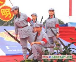 Chinese Red  Army is mighty but  no unconquerable