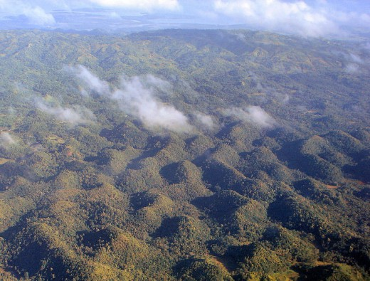 Aerial view of the Chocolate Hills, Bohol, Philippines (Photo by P199, April 2009 - Wikimedia Commons)