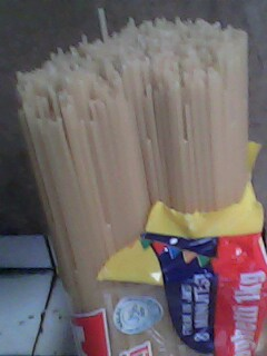 Getting ready with the pasta