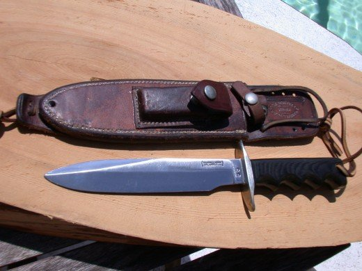 A Randall 16 Roughback sheath from the late 60's with a S S stamp.  Fairly rare.  It sold for over $3,000.00 on ebay.