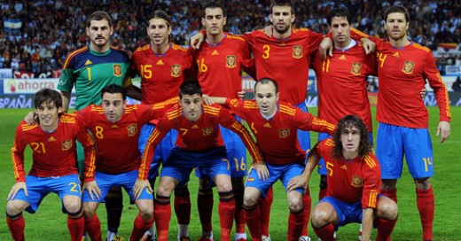 Spain's World Cup 2010 team.