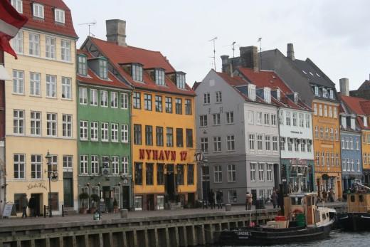 Nyhaven docks, Copenhagen, Denmark.