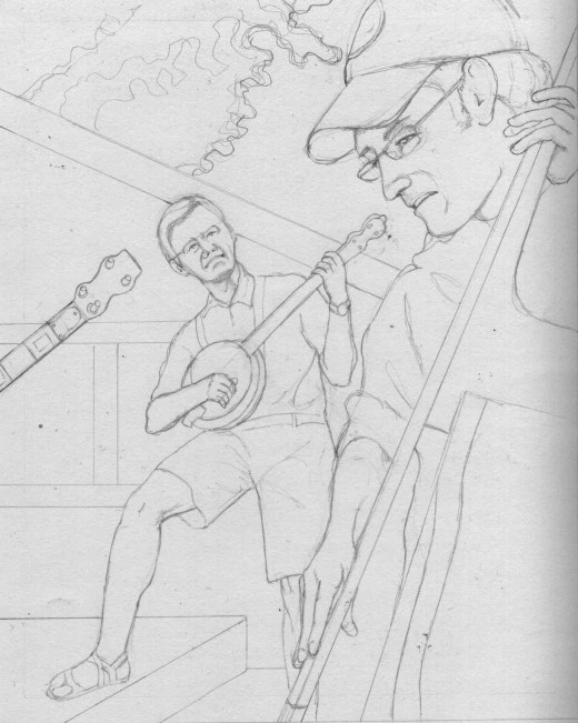 Jam Session, Pencil, 10 x 8""