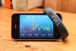 This is a snapshot from the Nike+ Fuelband app for the iPhone.  Pictured is a graph tracking one's daily activity.  As the user records more fuel points, the line on the graph changes from red to yellow to green.
