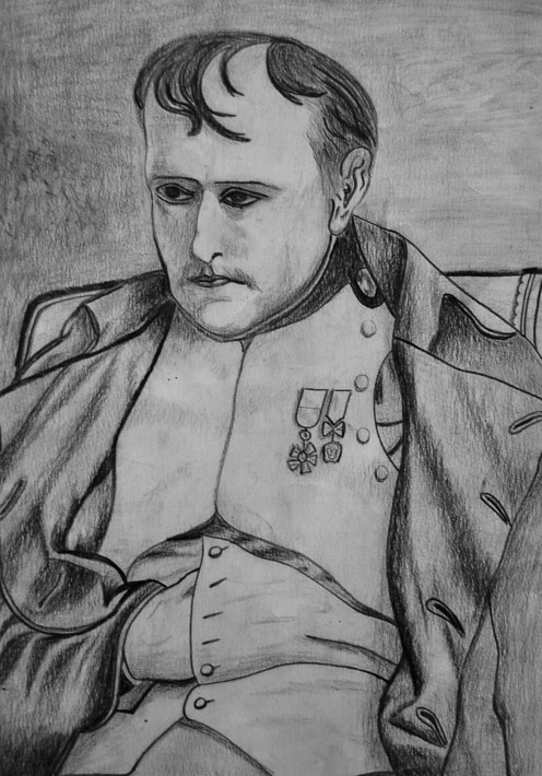 Napoleon I, by Luis Alberto Costales Cazar, based on the painting by Delaroche