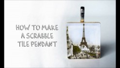 Tutorial: How To Make A Scrabble Tile Pendant
