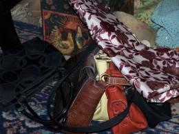 disorganized purses and totes.