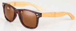 Silvano retro wayfarers with wood and tortoiseshell frames