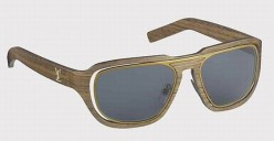 Louis Vuitton wood framed sunglasses with metal insert