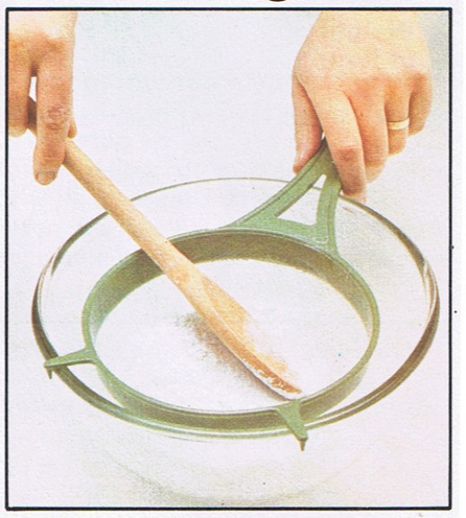 Sift icing sugar through a fine nylon or metal sieve into a bowl