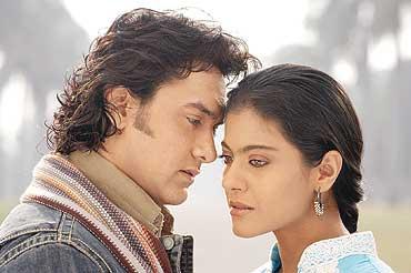 Aamir Khan and Kajol in Fanaa.
