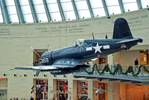 A deadly Corsair fighter from World War II