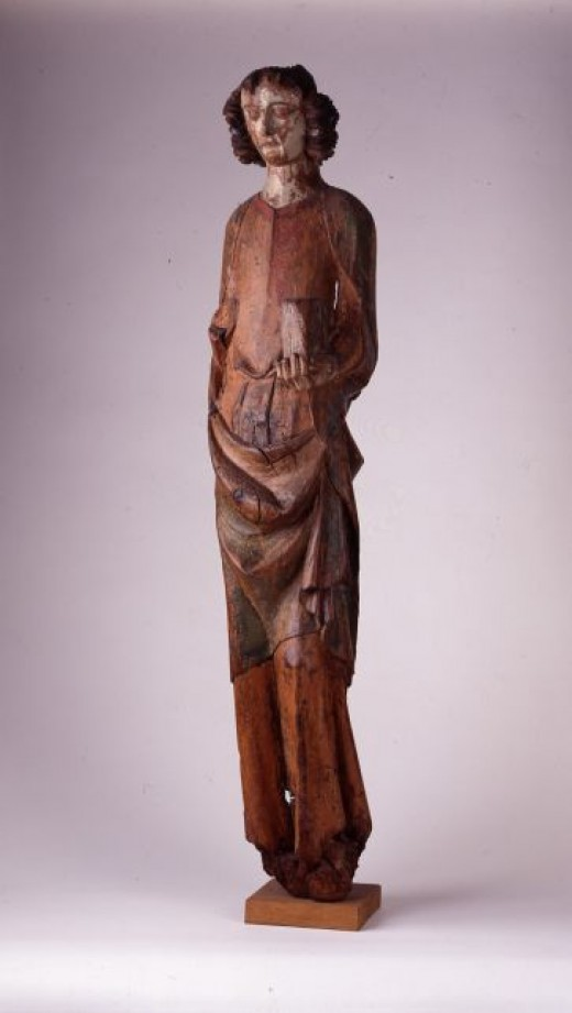 John the Baptist, 1320 woodcarving