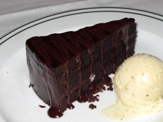 Slice of Classic Chocolate Layer Cake