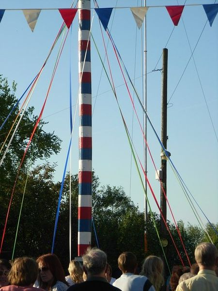 Ah, the Maypole. I did one of these (not this one) while living in NYC. When you don't know what you really believe, things happen...