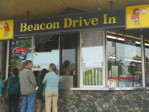 Get a snack or an ice-cream at the Beacon Drive-In
