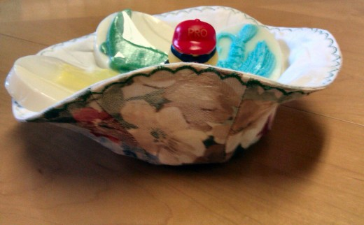 This little bowl is a little bit floppy but it turned out to be just ducky for holding beautiful handmade soaps.